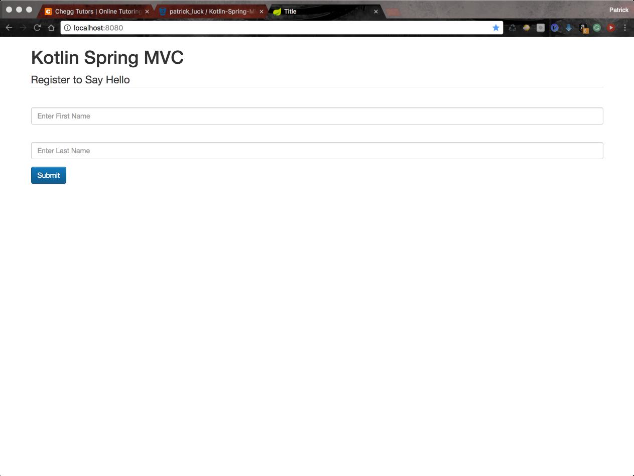 Kotlin Spring MVC – Stone Soup Programming