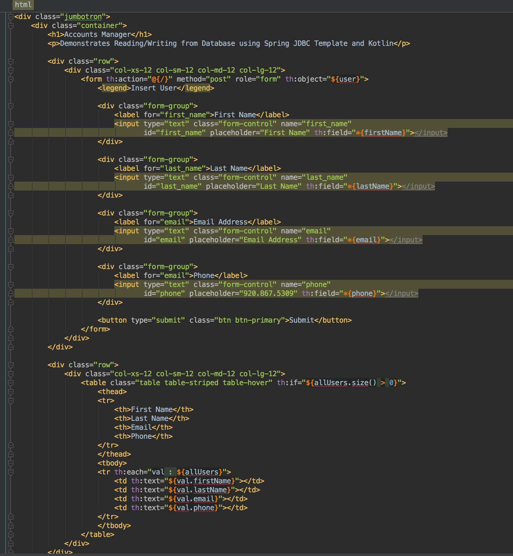 Kotlin Spring JDBC Template – Stone Soup Programming